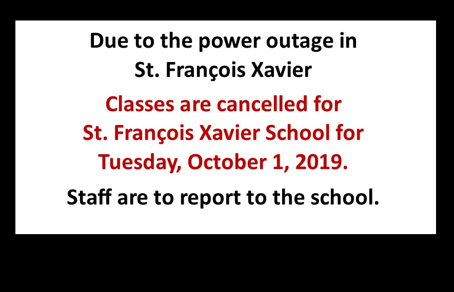 classes cancelled October 1 2019 SFX