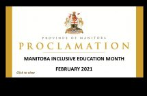 Province proclaims February 20201 Inclusiv Education Month